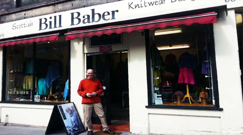 bill baber scottish designer knitwear old town edinburgh